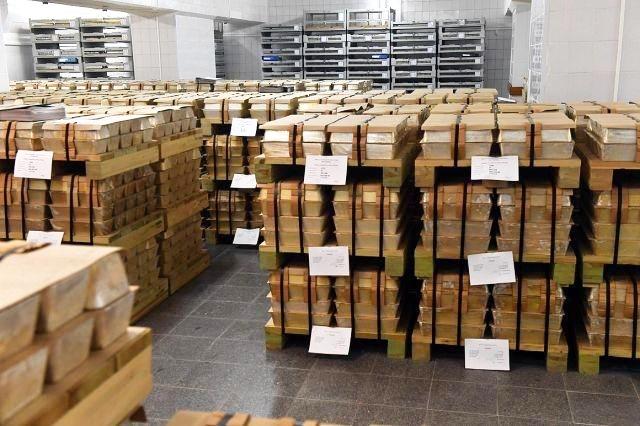 vaulted Russian gold bullion