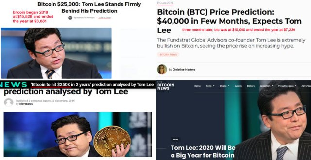 absurdly poor bitcoin price predictions made by Fundstrat's Tom Lee