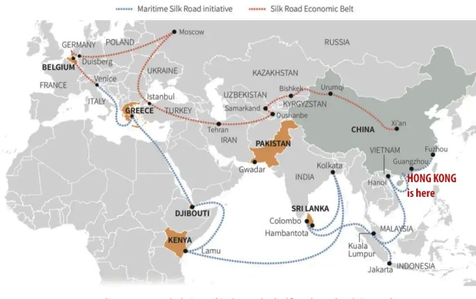China's One Belt One Road map