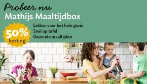 50% korting op mathijs maaltijdbox