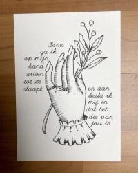 Postkaartje hand