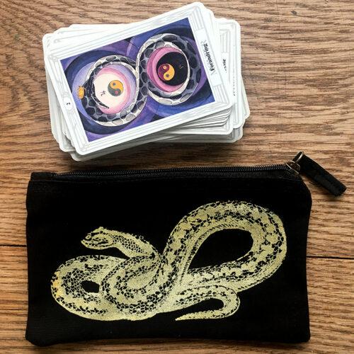 sort pung slange