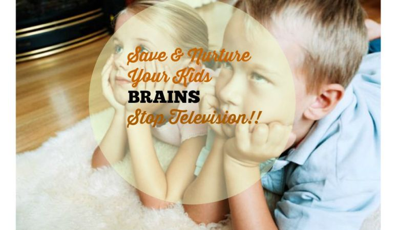 Save and nurture your kids BRAINS and STOP them from watching TV!!