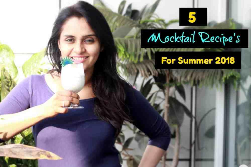 5 Mocktail Recipes For Summer 2018