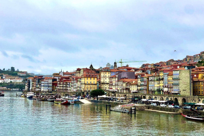The city of Porto along the Douro River