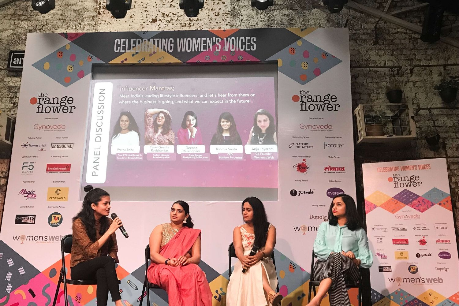 Maa Of All Blogs on the Panel on Influencer Mantras At the Orange Flower Festival 2020