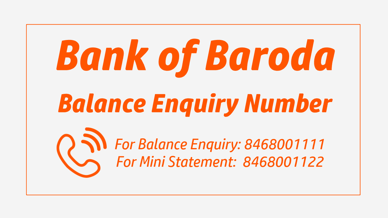 Bank of Baroda Balance Check