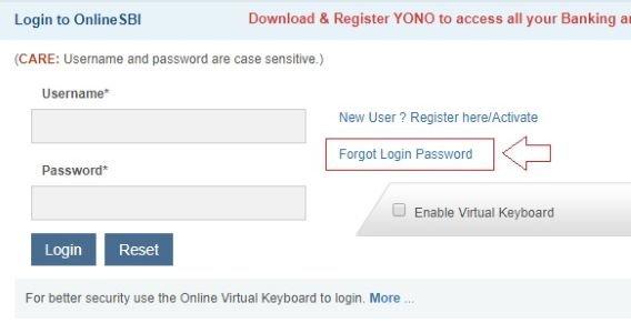 How to Reset SBI Net Banking Password
