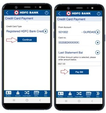 hdfc credit card payment online