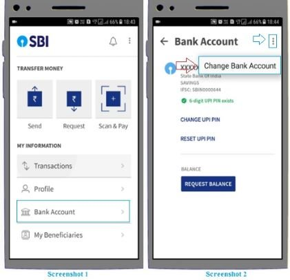 How to add bank account in BHIM