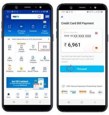 credit card bill paytm