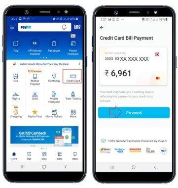 credit card bill paytm