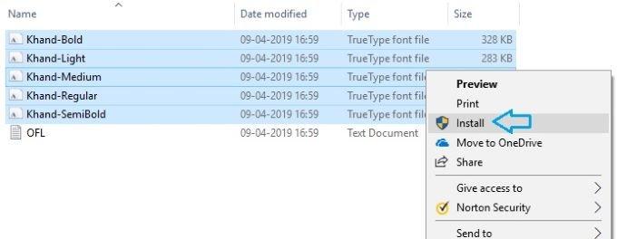 Download select-and-install-hindi-fonts