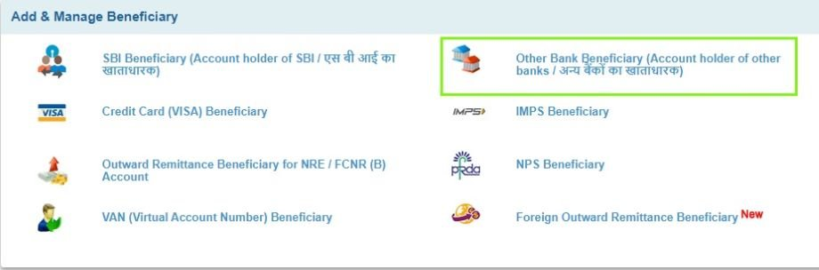 Add & Manage Beneficiary