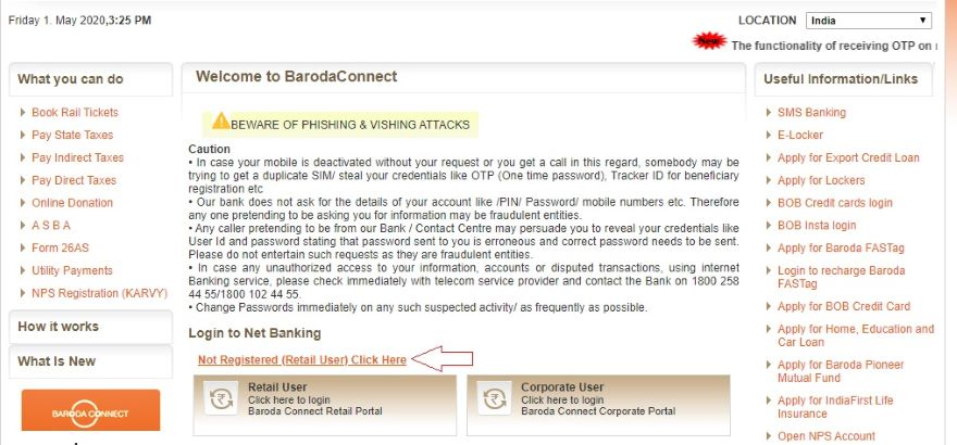 BOB internet banking