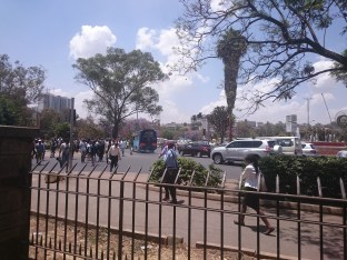 busy Nairobi intersection