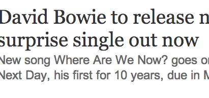 http://www.guardian.co.uk/music/2013/jan/08/david-bowie-new-album-single?intcmp=122