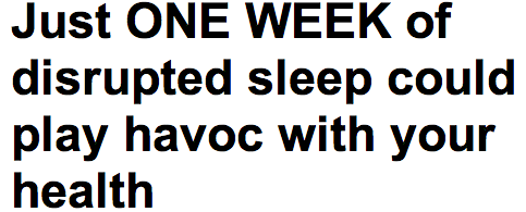 http://www.dailymail.co.uk/health/article-2284275/Just-ONE-WEEK-disrupted-sleep-play-havoc-health.html