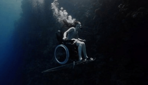 http://abcnews.go.com/blogs/headlines/2013/06/wheelchair-bound-woman-soars-underwater/