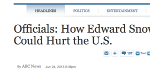 http://abcnews.go.com/blogs/headlines/2013/06/officials-how-edward-snowden-could-hurt-the-u-s/