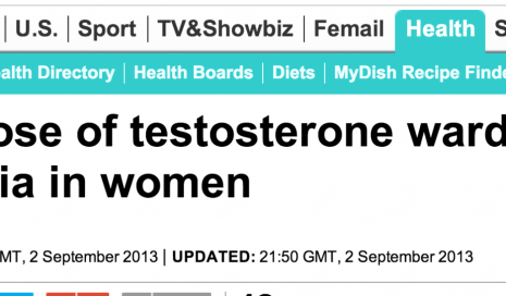 http://www.dailymail.co.uk/health/article-2409272/Daily-dose-testosterone-wards-dementia-women.html