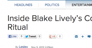 http://abcnews.go.com/blogs/entertainment/2013/11/inside-blake-livelys-cozy-morning-ritual/