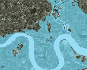 http://www.dailymail.co.uk/sciencetech/article-2520867/New-map-shows-London-underwater-city-Thames-Barrier-built.html