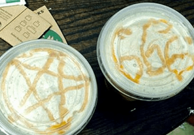 http://www.dailymail.co.uk/news/article-2594303/Starbucks-barista-serves-coffee-satanic-symbols-foam-outraged-Catholic-woman-Sunday.html
