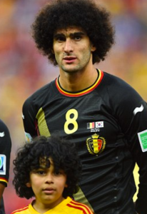 http://www.dailymail.co.uk/sport/worldcup2014/article-2671422/Marouane-Fellaini-poses-mascot-hair-double-Belgium-play-South-Korea.html