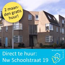 direct te huur met aanbieding Nieuwe Schoolstraat 19 Maassluis