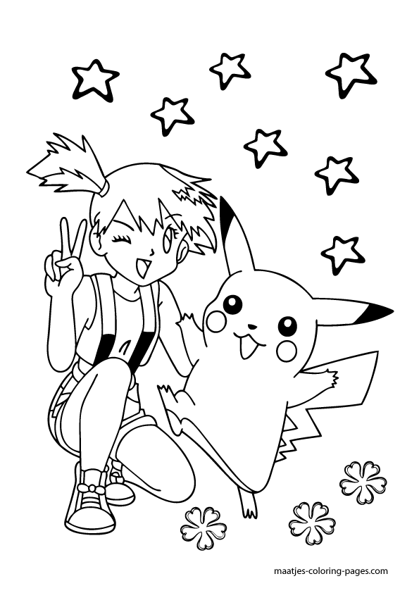 Pokemon Misty Coloring Pages Pokmon Coloring Pages Coloring Rocks