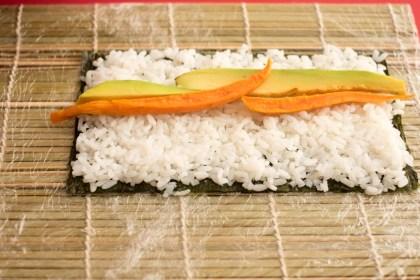 ירקות על האורז