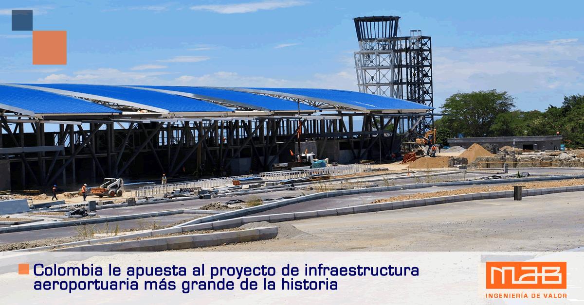 Infraestructura aeroportuaria Colombia