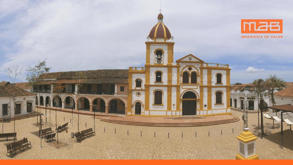 Plaza de la Concepción en el Sector Antiguo de Santa Cruz de Mompox