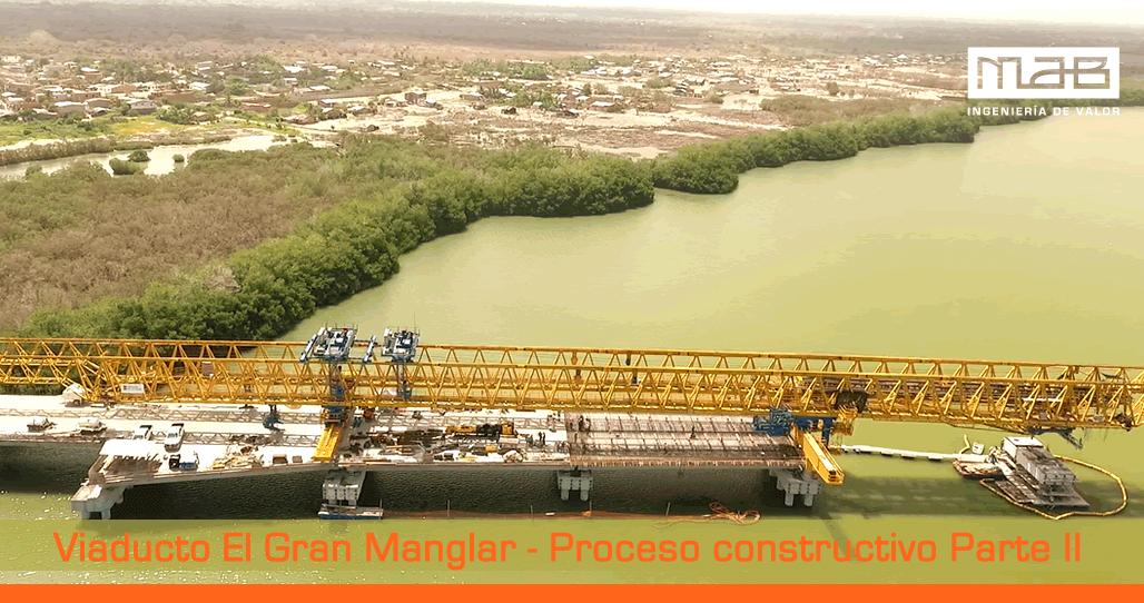 Construcción El Gran Manglar: Viaducto más largo de Colombia
