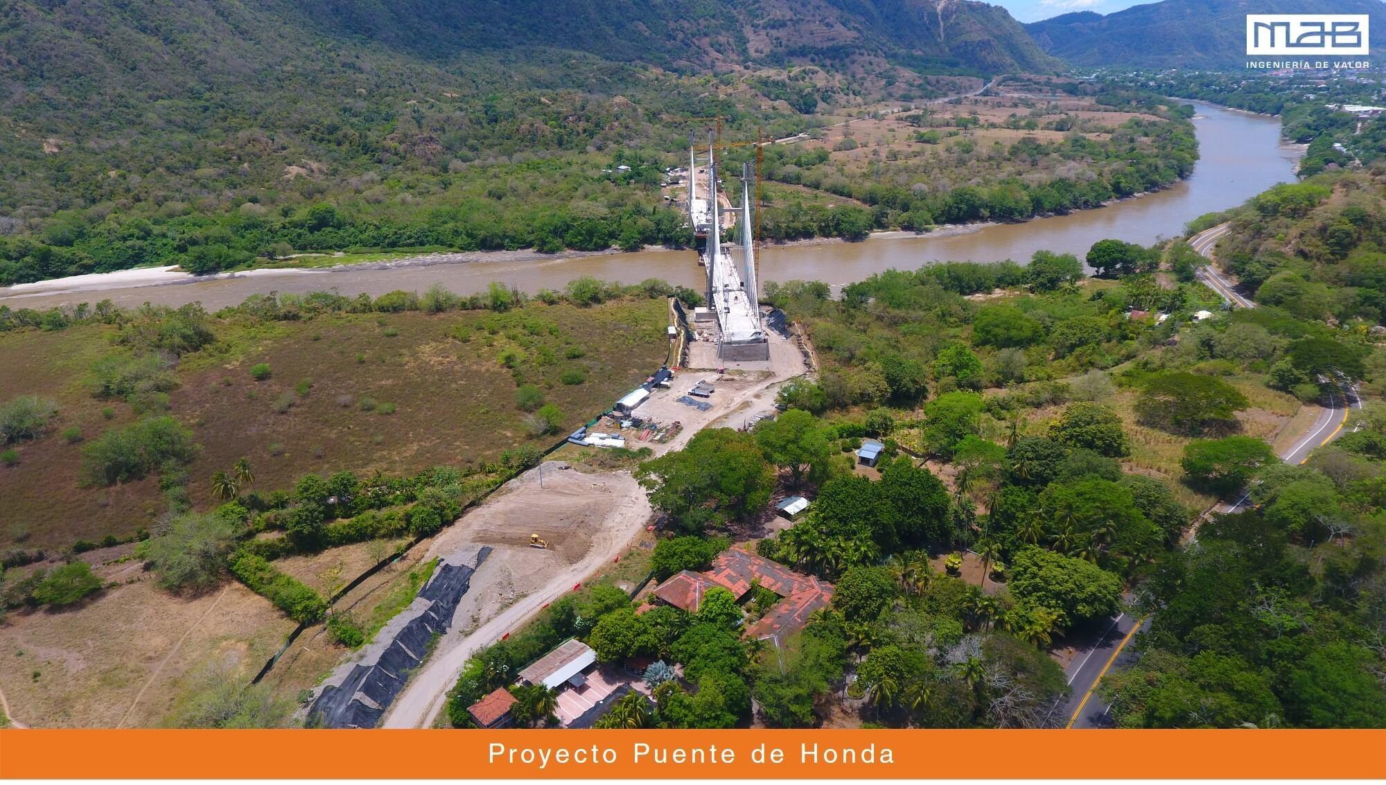 Puente de Honda, avanza en pasos de gigante.