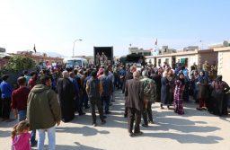 חלוקת סיוע הומניטרי בדמשק, בשבוע שעבר. צילום: אי-פי-אי