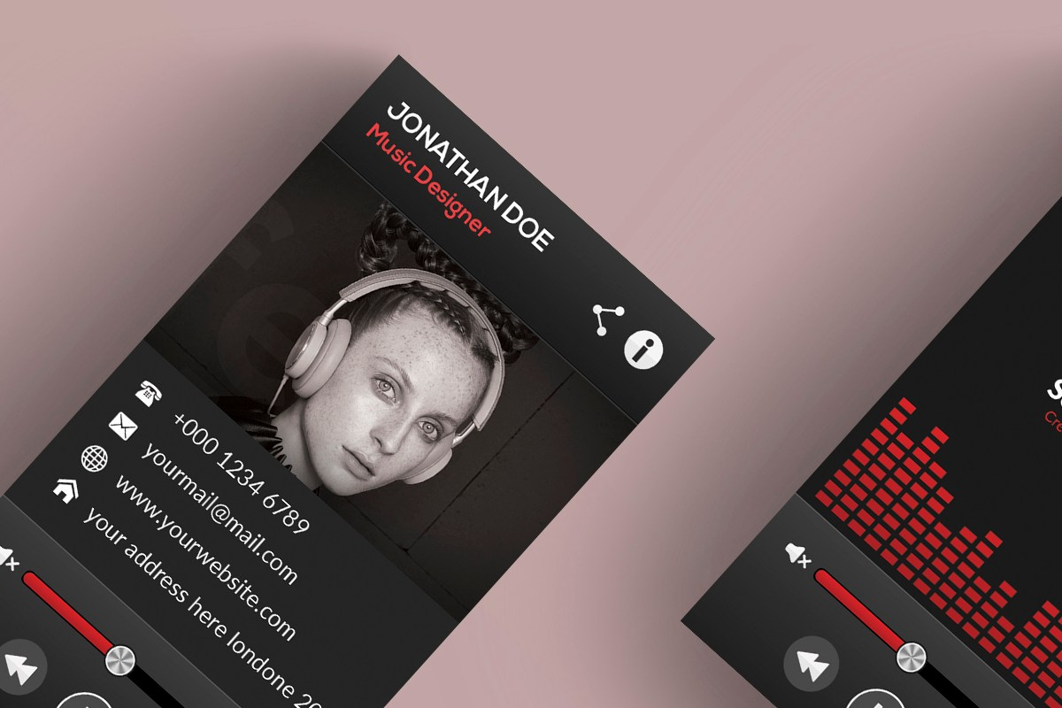 HD Decor Images » Music Player Style Business Card   MAbd86   Free PSD Templates     Music Player Style Business Card   MAbd86