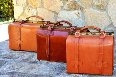 maletas, diligencia, maletas grandes, maletas de viaje, cuero, piel, artesania, hecho a mano