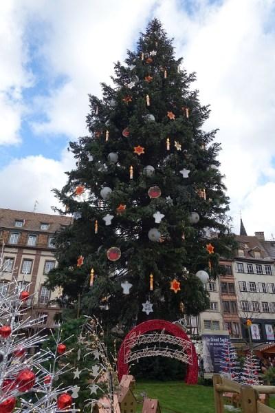 Sapin Marché de Noël Strasbourg