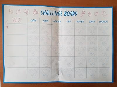 Challenge board - Danone blogger chalenge