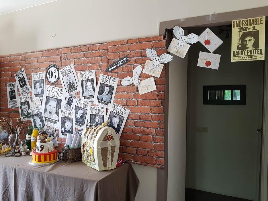 Sa fête d'anniversaire Harry Potter
