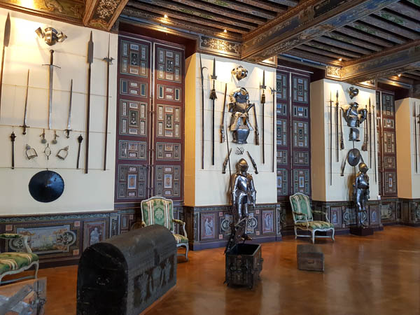 Château de Cheverny - salle d'armes