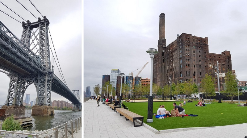 Domino park, Brooklyn et le street art