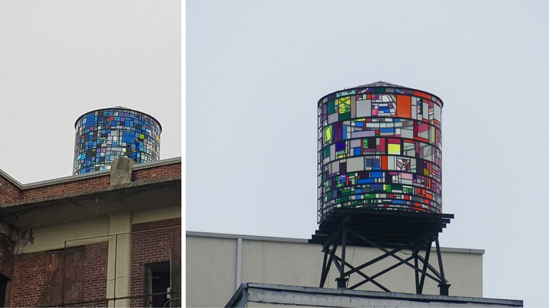 Dumbo, Water tank Tom Fruyn, Brooklyn et le street art