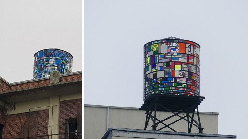 Dumbo, Water tank Tom Fruyn, Brooklyn et le street art