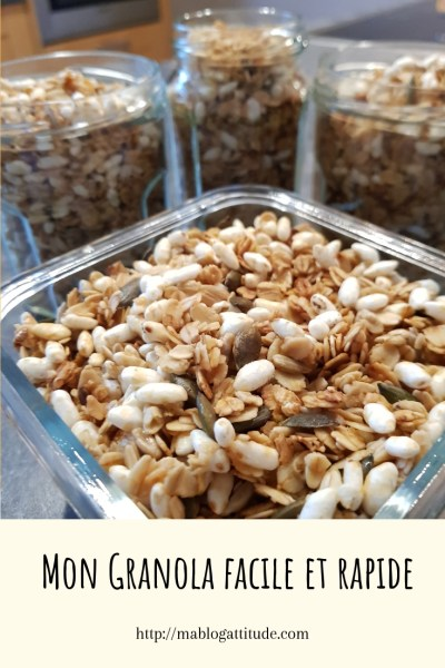 Ma recette de granola facile et rapide