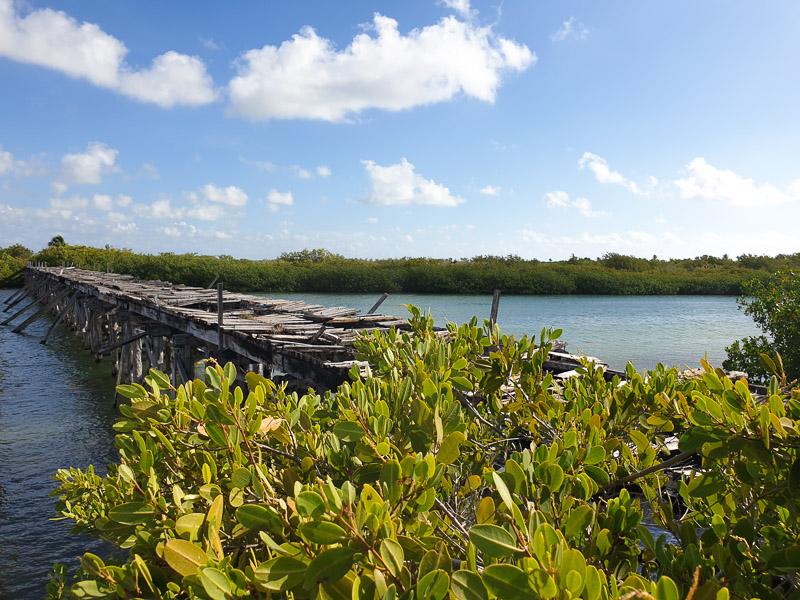 Réserve naturelle de Sian Kaan : pont de Boca Paila Lagoon