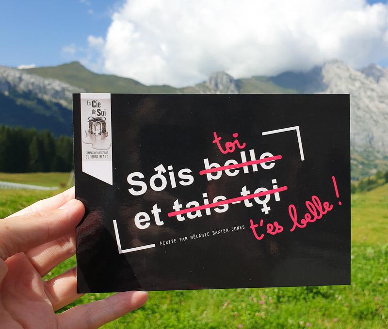 Festival Au bonheur des Mômes, affiche de la formidable pièce de théâtre Sois toi et t'es belle