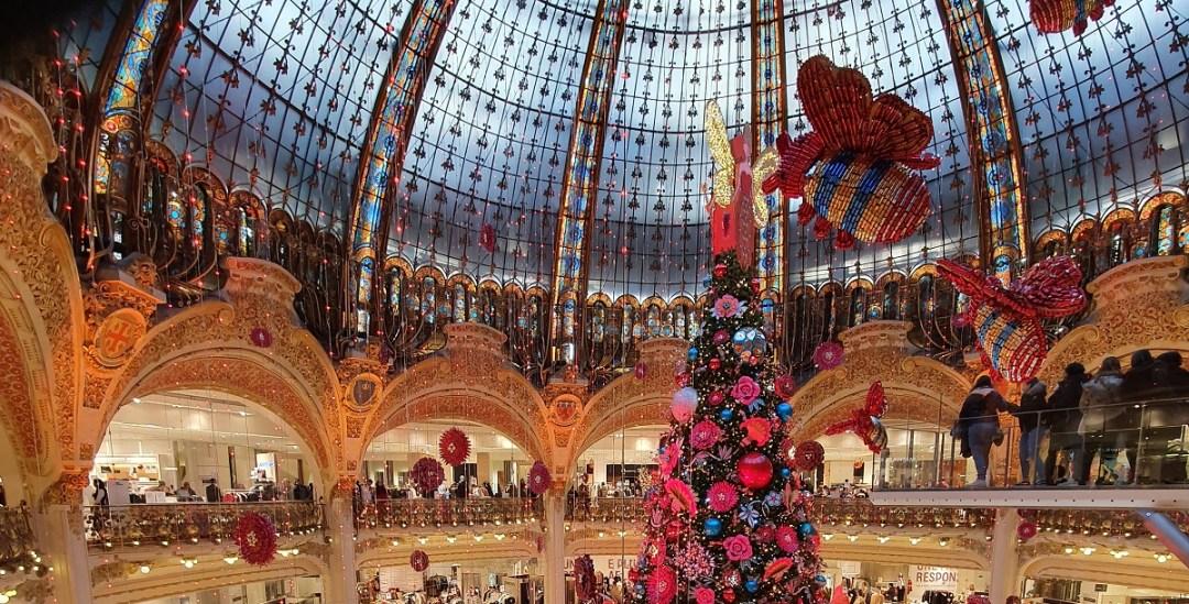 Mon noel à Paris, le sapin des galeries lafayette